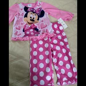 NWT- Disney- Baby/Infant Girl Pajamas- Size 18 mo.